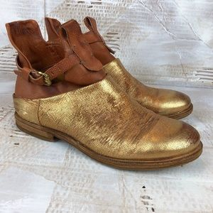 A.S. 98 + Free People Big Sur gold bootie 40 9/9.5